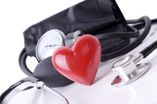 Blood Pressure Cuff with Heart